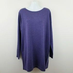 Eileen Fisher | Purple Merino Wool Sweater Tunic